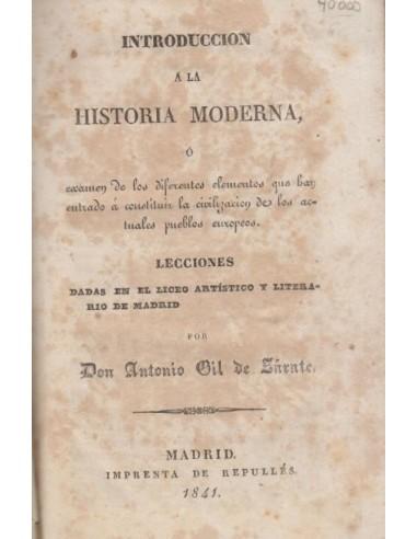 Introducción a la Historia moderna Usado