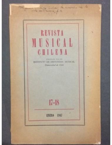 Revista Musical chilena N 17 18 Usado