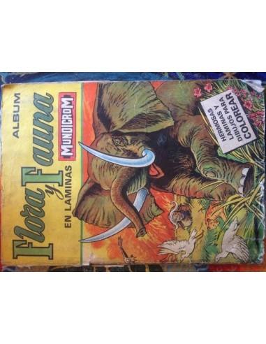 Album Flora y fauna en láminas Usado