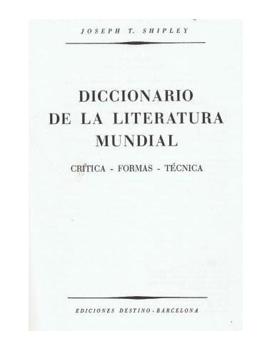 Diccionario de la literatura mundial