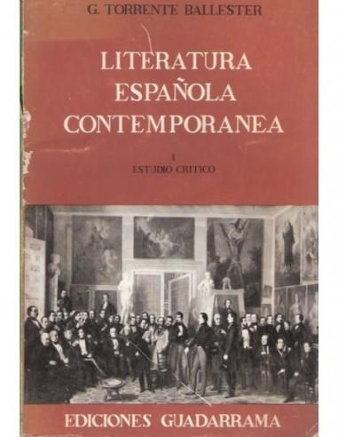 Literatura española contemporánea I...